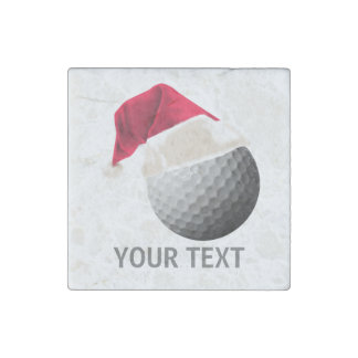 golf christmas stone magnet