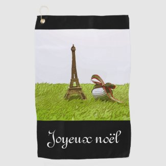 Golf Christmas with Eiffel Towel Paris France