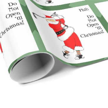 christmastee Golf Christmas Wrapping Paper