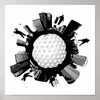 Golf City Poster