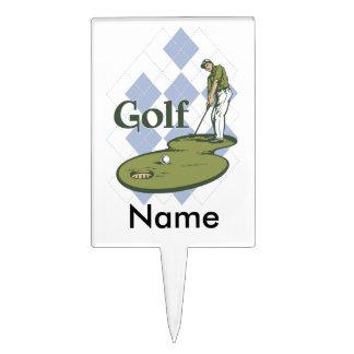 Golf clásico figuras de tarta