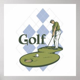Golf clásico póster