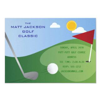 """Golf Classic Invitation 5"""" X 7"""" Invitation Card"""