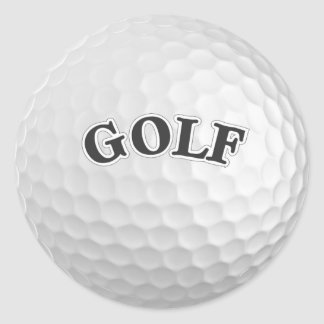 Golf Classic Round Sticker