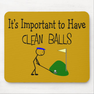 "Golf ""CLEAN BALLS""  Golf Humor Gifts Mouse Pad"