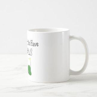 "Golf ""CLEAN BALLS""  Golf Humor Gifts Mug"