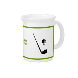 Golf club and ball black, green custom drink pitcher