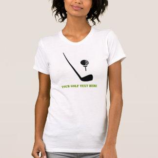 Golf club and ball black, green custom T-Shirt