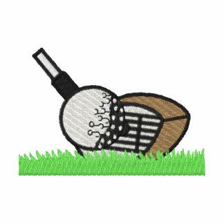 Golf Club And Ball Embroidered Polo Shirt