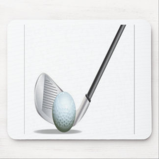 Golf club and golf ball design mouse pad