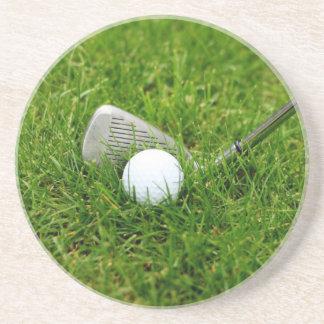Golf Club and Golf Ball Sandstone Coaster