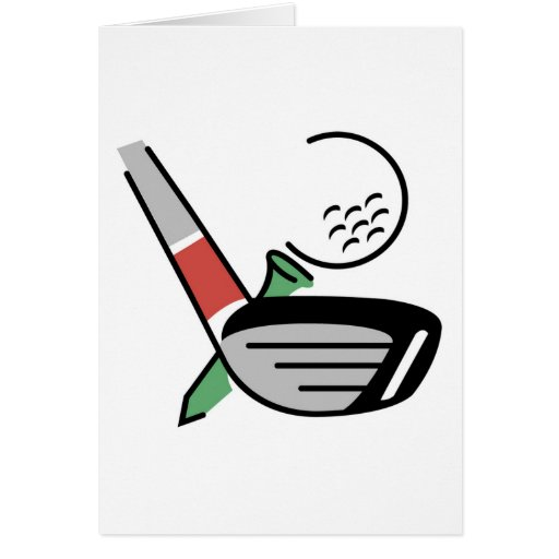 Golf Club, Ball, and Tee T-shirts and Gifts Card