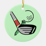 Golf Club, Ball, and Tee T-shirts and Gifts Ornaments