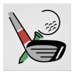 Golf Club, Ball, and Tee T-shirts and Gifts Print