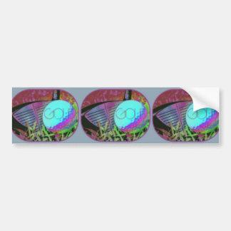 GOLF Club Ball Digital Art Image Bumper Sticker