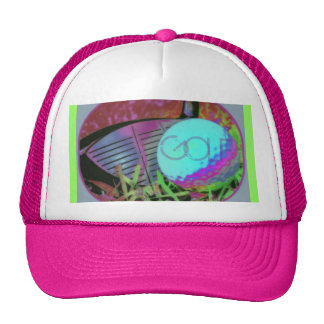 GOLF Club Ball Digital Art Image Trucker Hat