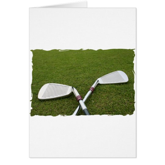 Golf Club Design Greeting Card