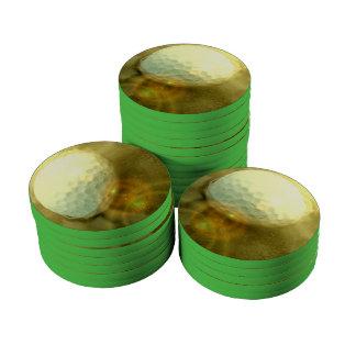 Golf Club Design Poker Chips