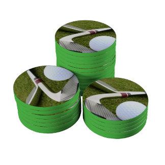 Golf Club Design Poker Chips Set