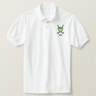 Golf Club Emblem Personalized Name Embroidered Polo Shirt