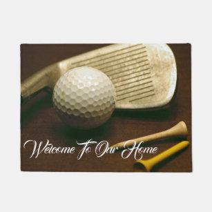 Merveilleux Golf Club, Golf Ball, And Golf Tees Photo Door Mat