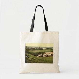 Golf club house, Cromer, England classic Photochro Canvas Bags