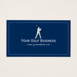 Golf Club Navy Blue Plain Simple Framed Business Card