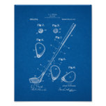 Golf-club Patent - Blueprint Posters