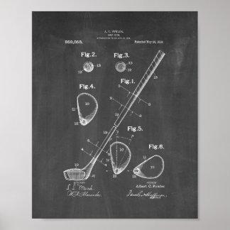 Golf-club Patent - Chalkboard Poster