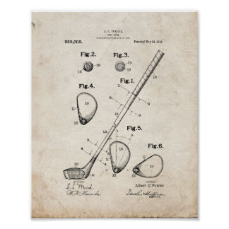 Golf-club Patent - Old Look Posters
