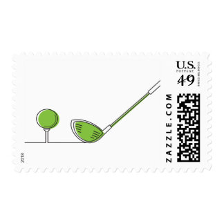 Golf club postage stamps