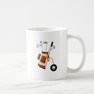 Golf Clubs and Bag Classic White Coffee Mug