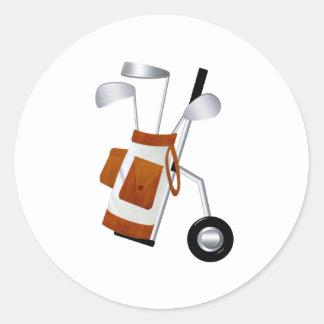 Golf Clubs and Bag Sticker