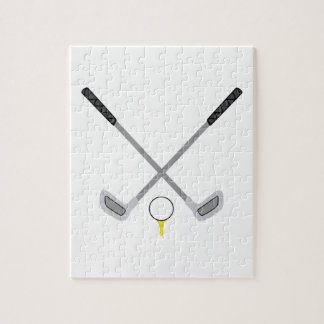 GOLF CLUBS AND BALL PUZZLE