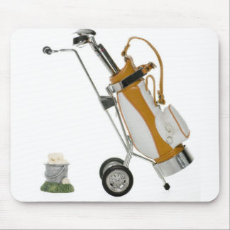 Golf Clubs and Bucket of Balls Mouse Pads
