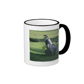 Golf clubs and golf bag ringer mug