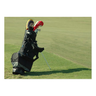 Golf Clubs At Golf School Business Card Templates
