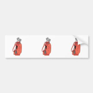 golf clubs bumper sticker