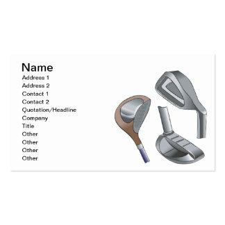 Golf Clubs Business Cards