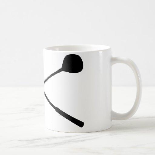 golf clubs crossed classic white coffee mug