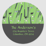Golf Clubs Design 2 Address Labels/Stickers