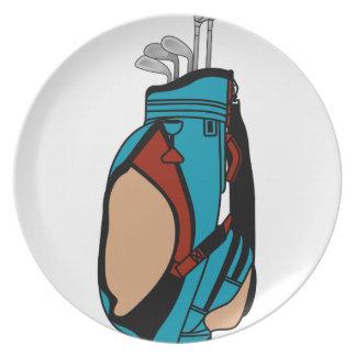 Golf Clubs Melamine Plate