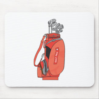 golf clubs mouse pad