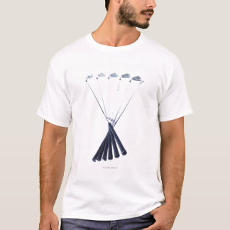 Golf clubs on white background T-Shirt