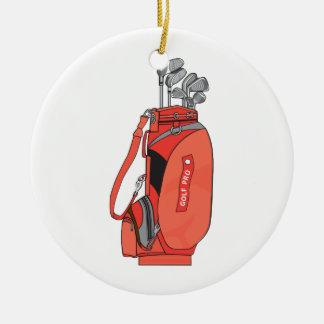 golf clubs christmas tree ornament
