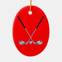 Golf Clubs Oval Ornament