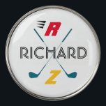 """golf clubs personalized golf ball marker<br><div class=""""desc"""">For the stylish golfer...  to personalize with name and initials</div>"""