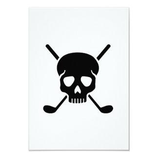 Golf clubs skull card