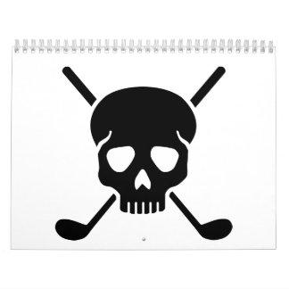 Golf clubs skull calendar