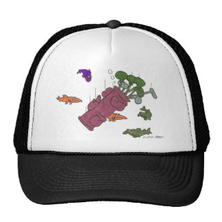 Golf  clubs sleep with the fishs.(Tossed/ / water Trucker Hat